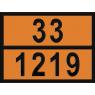 """Табличка ДОПОГ - """"Изопропанол (спирт изопропиловый)"""" (UN1219)"""