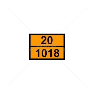 """Табличка ДОПОГ - """"Хлордифторметан (газ рефрижераторный R 22)"""" (UN1018)"""