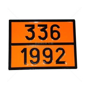 """Табличка ДОПОГ - """"Легковоспламеняющаяся жидкость, токсичная""""  (UN1992)"""