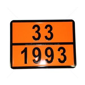 """Табличка ДОПОГ - """"Легковоспламеняющаяся жидкость"""" (UN1993)"""